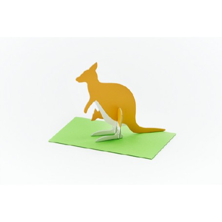 Good Morning // Post Animal Greeting Cards // Kangaroo