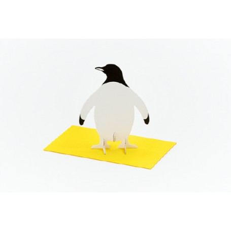 Good Morning // Post Animal Greeting Cards // Penguin