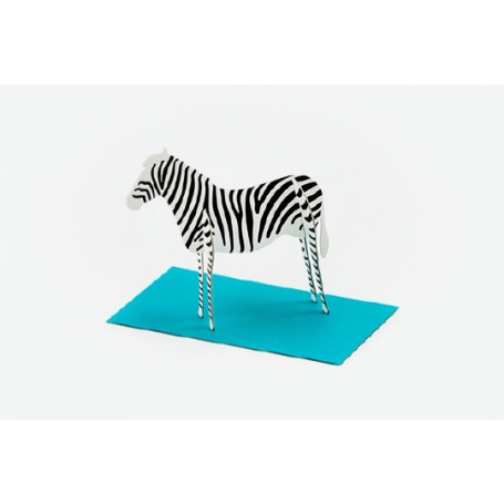 Good Morning // Post Animal Greeting Cards // Zebra