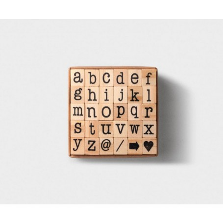 Tools to Live By / Small Letters Alphabet Stamp Set